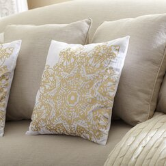 Gemma Metallic Pillow Cover, Gold