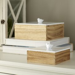 Finch Lidded Boxes (Set of 2)