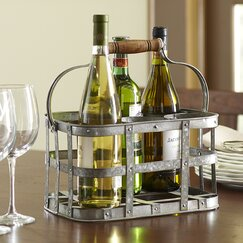 <strong>Birch Lane</strong> Galvanized Wine Caddy