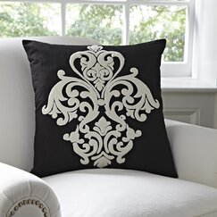<strong></strong> Leah Pillow Cover, Black & White