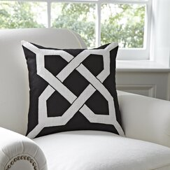 <strong></strong> Kira Pillow Cover, Black & White
