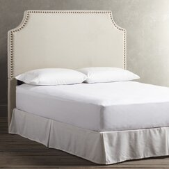 <strong>Birch Lane</strong> Parker Nailhead Trim Custom Headboard, Parchment