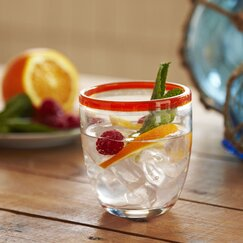 Jubilee Double Old-Fashioned Glasses, Tangerine (Set of 4)