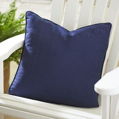 Mara Indoor/Outdoor Solid Pillow, Navy