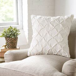 Alda Pillow Cover, White