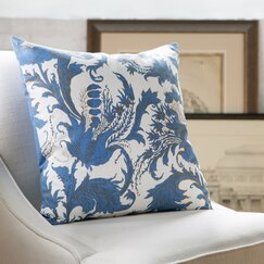 Vivi Cotton Pillow Cover, White & Blue