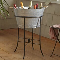 <strong>Birch Lane</strong> Galvanized Beverage Tub with Stand