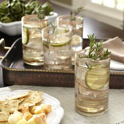 Catron Old-Fashioned Highball Glasses (Set of 4)