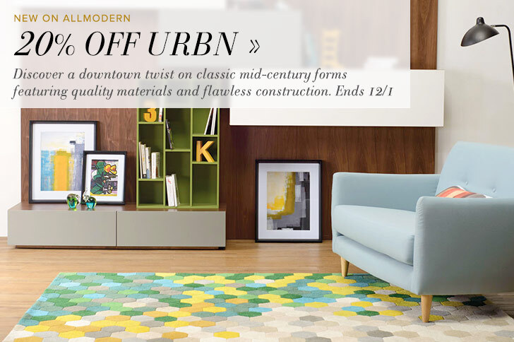 20% OFF URBN - Discover a downtown twist on classic mid-century forms featuring quality materials and flawless construction