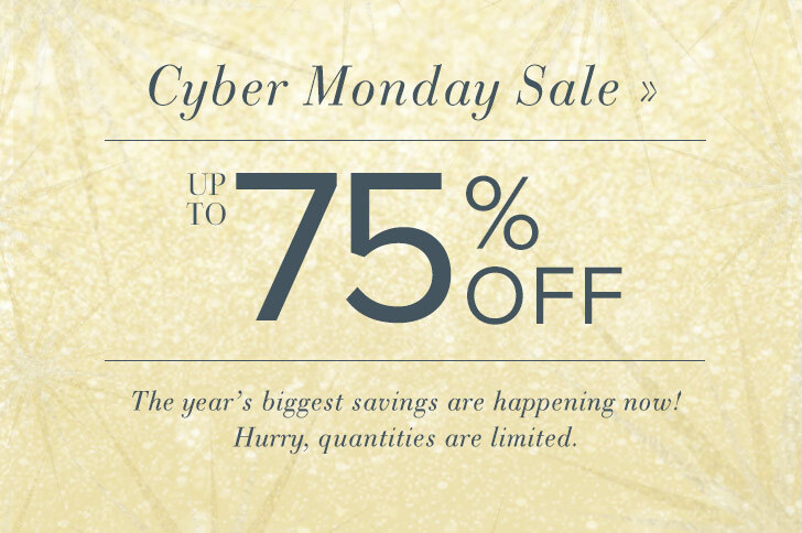 Cyber Monday Sale - Up to 75% OFF - The year's biggest savings are happening now! Hurry, quantities are limited.